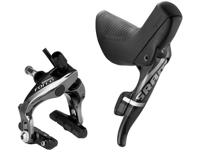 SRAM Force22 Gearhåndtag med Douple Tap gear-/bremsegreb foran/venstre sort
